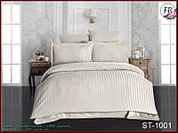 Постельное белье страйп - сатин ST-1001 Евро