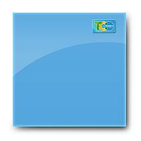 Стеклянная магнитно-маркерная доска (Голубой цвет)