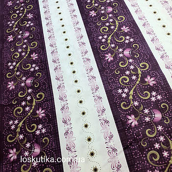 56019 Орнамент в сиреневом. Ткань для шитья, декорировая. Подойдет для пэчворка, сувениров и аксессуаров.