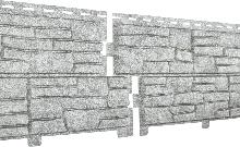 Фасадные панели U-Plast Stone House Сланец (светло-серый)