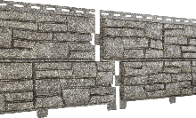 Фасадные панели U-Plast Stone House Сланец (бежевый)