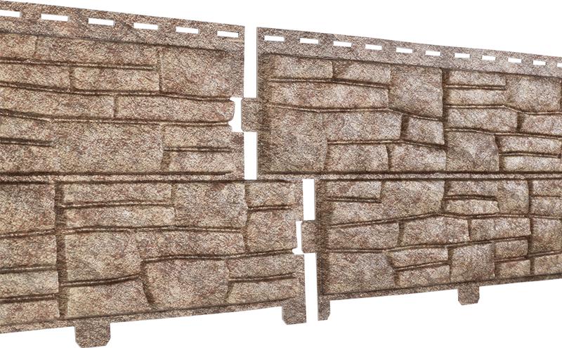 Фасадные панели U-Plast Stone House Сланец (бурый)
