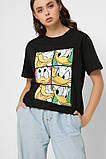 Футболка женская Скрудж Макдак размер M. Черная футболка женская CRC 32612-8, фото 2