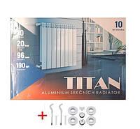 Алюминиевый радиатор отопления TITAN 500*100, Титан 500/100