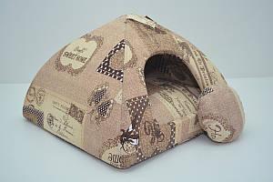Домик юрта для котов и собак бязь №0 30х30х24 см