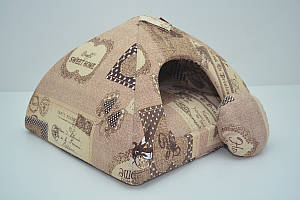 Домик юрта для котов и собак бязь №2 46х46х35 см