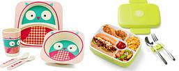 Детская Посуда из Бамбука / Ланчбоксы для еды