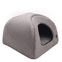 Домик юрта для котов и собак Loft №2 41х41х37 см бежевый