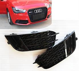 Боковые решетки бампера Audi A1 8X (10-14) стиль RS