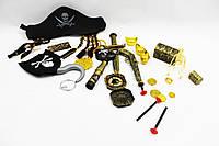 Пиратский набор ZP2626 96шт2 шляпа, подз.труба, крюк, мушкет, в пакете 20837см