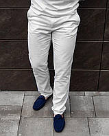 Чоловічі штани білі лляні, фото 1