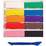 """Пластилін """"Класичний"""", 10 кольорів, вага 200 г, в картонній упаковці зі стеком., фото 2"""