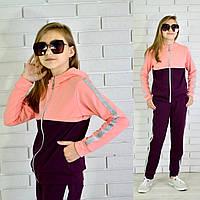 Спортивный подростковый костюм для девочки МАДОННА (двухнитка), 122-128-134-140-146-152