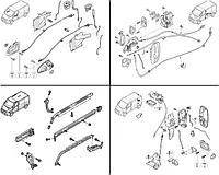 Элементы закрывания (ролики / замки), ручки механизмы