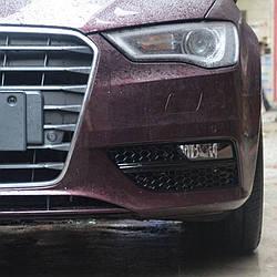 Боковые решетки бампера Audi A3 8V (12-16) стиль RS