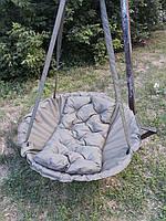 Кресло качели подвесное гамак в сад для дачи зелёное взрослое и детское