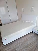 Кровать  Рома 1,6х2,0 Твердая белый глянец Подъемное  с каркасом, фото 1