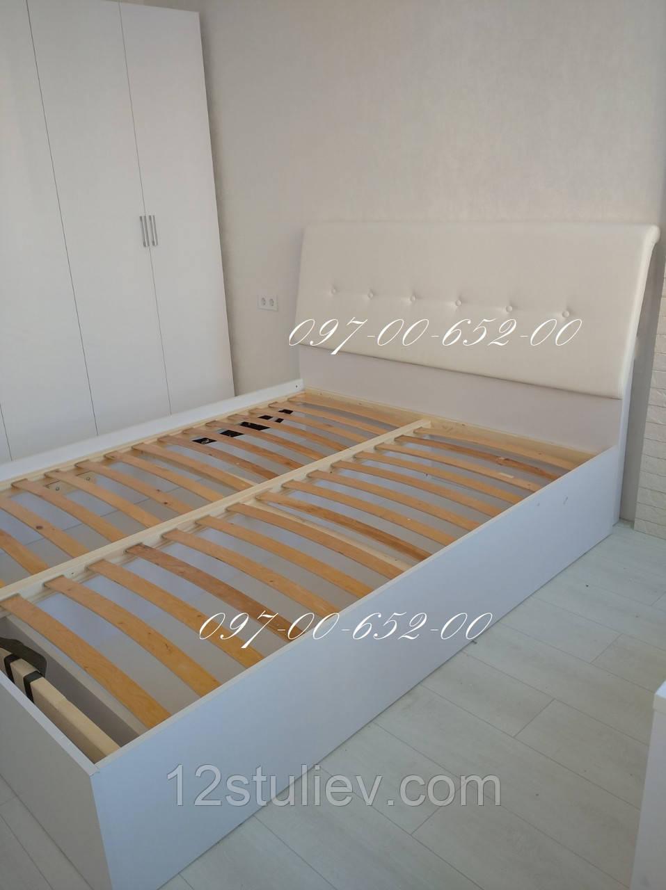 Ліжко Рома 1,8х2,0 Підйомне М'яка спинка з каркасом