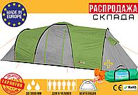 Туристическая Палатка Намет AbarQs CLIF 6 Серая (для 6 человек) Польша