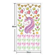Інтер'єрна наклейка для дитячої кімнати KS8857 Єдиноріг і серця, фото 2