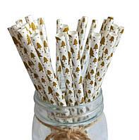 Бумажные трубочки для напитков 19.5 см (уп-125 шт)