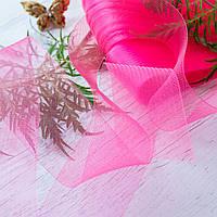 Регилин плоский (кринолин мягкий) / ширина 4 см / цвет розовый / упаковка 25 м
