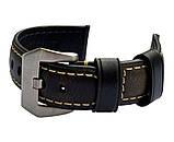 Кожаный ремешок Primolux F001 Steel buckle для часов Garmin Forerunner 245 / Forerunner 645 - Black, фото 6
