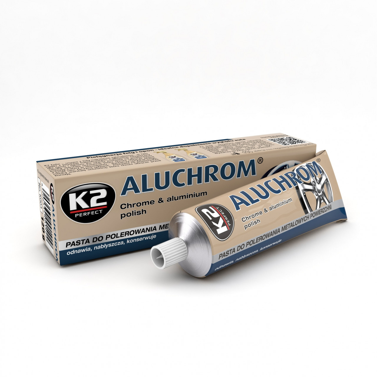 K2 Aluchrom паста для полірування хром. деталей 120г.