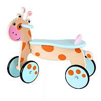 Беговел жираф. Деревянная обучающая игрушка. Отличный подарок ребенку