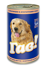 Консерва ГАВ для взрослых собак с кроликом в аппетитном соусе, 1,24 кг