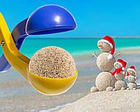 """🔝 Песколеп """"Колобок"""" игрушка на пляж и для песочницы Сине-желтый   пасочки из песка   с доставкой  🎁%🚚"""