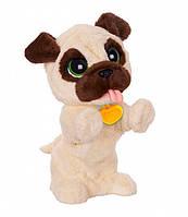 Интерактивная игрушка собака для детей 12 команд Бежевая