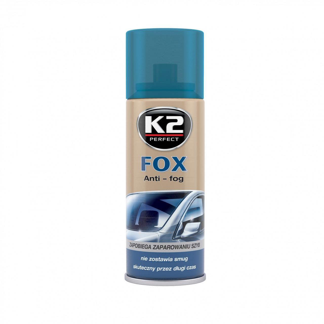 K2 FOX АНТИЗАПОТЕВАТЕЛЬ ДЛЯ СТЕКЛА 150МЛ.(СПРЕЙ) ART K631