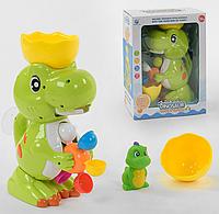 Игрушка для ванной водопад Динозаврик на присосках