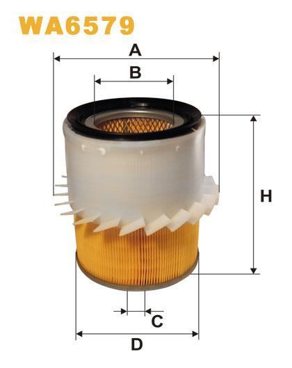 WIX WA6579 повітряний Фільтр Filtron AM 468/4