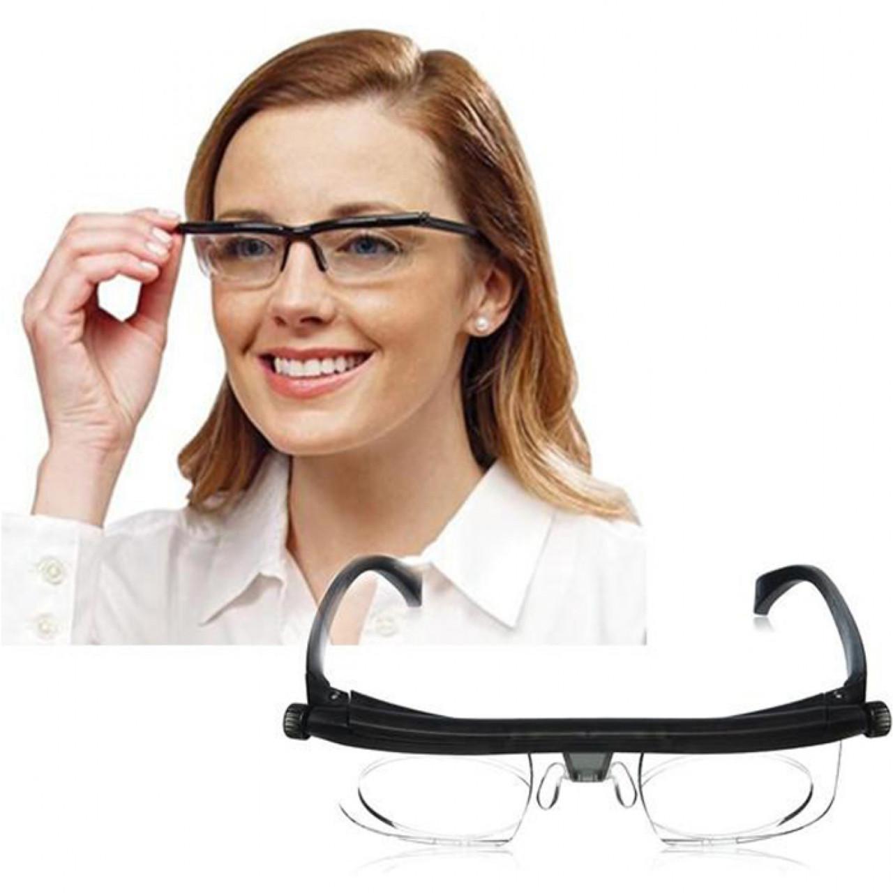 Очки (от -6 до +3) с регулируемыми линзамиDial Vision для чтения и мелких работ