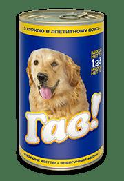 «ГАВ» консервированный корм для взрослых собак с курицей в аппетитном соусе, 1,240 кг