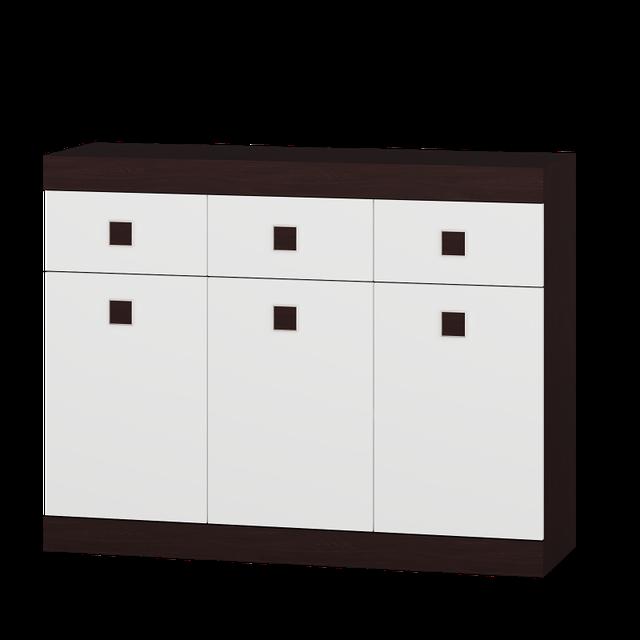Комод Соната-7 Венге темний + Білий