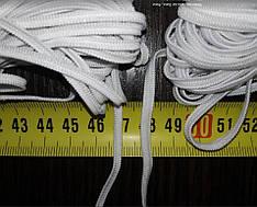 Резинка для медицинских масок 3мм, белая и черная плоская от 100м,  в наличии, распродажа