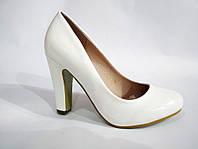 Женские свадебные туфли, белые женские туфли на устойчивом каблуке