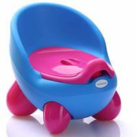 Детский горшок Кью Кью, голубо-розовый - Babyhood BH-105B