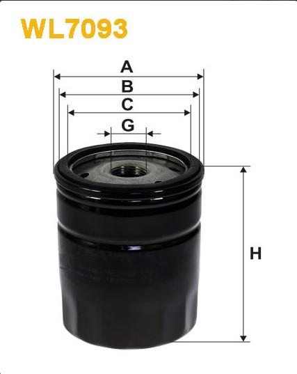 Фильтр масляный, WIX WL7093, Filtron OP 546