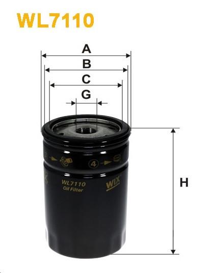 Фильтр масляный, WIX WL7110, Filtron OP 559