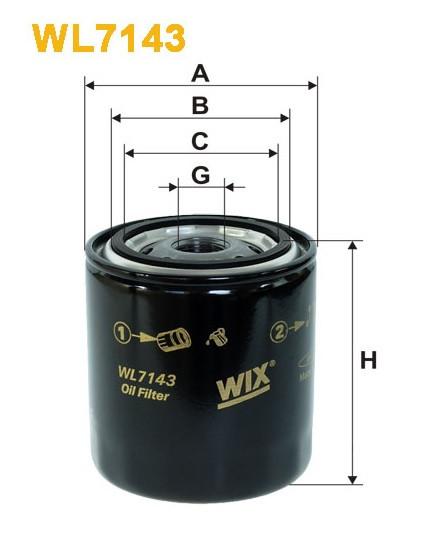 Фильтр масляный, WIX WL7143, Filtron OP 581