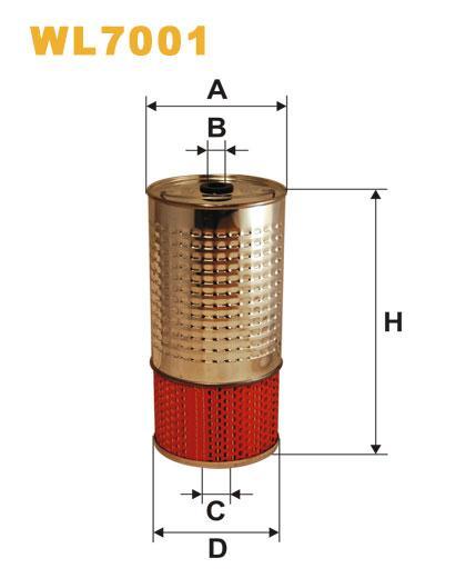 Фильтр масляный, WIX WL7001, Filtron OC 601 (51385E)
