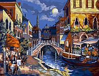 Картина по Номерам Ночная Венеция