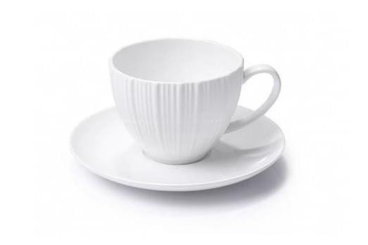 Чашка с блюдцем Fissman Elegance White 100 мл 9384