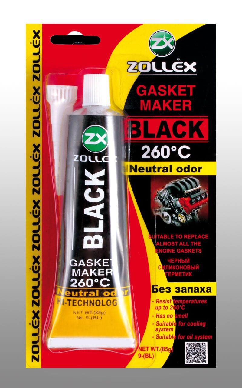 Zollex Герметик прокладок (черный) BLACK-85g. Премиум