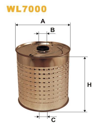 Фильтр масляный, WIX WL7000, Filtron OC 600