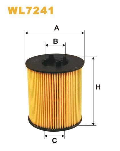 Фильтр масляный, WIX WL7241, Filtron OE 648/2